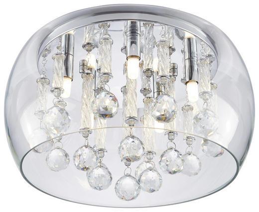 DECKENLEUCHTE - Chromfarben, Design, Glas/Metall (40/27,5cm) - Ambiente