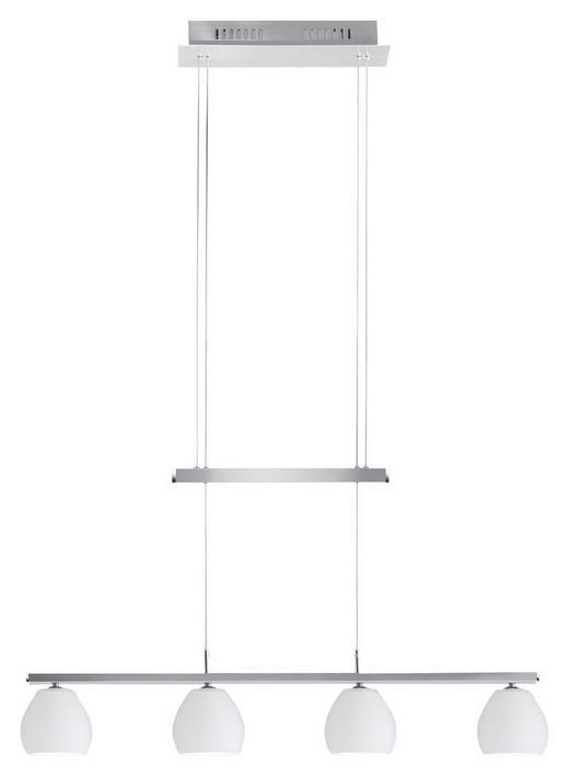 LED-HÄNGELEUCHTE - Weiß, LIFESTYLE, Glas/Metall (70/14/24cm)