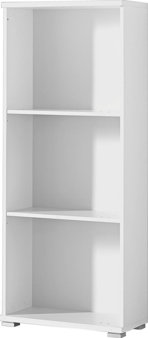 SCHUHSCHRANK Weiß - Silberfarben/Weiß, Design, Holzwerkstoff/Kunststoff (53/132/30cm) - Xora