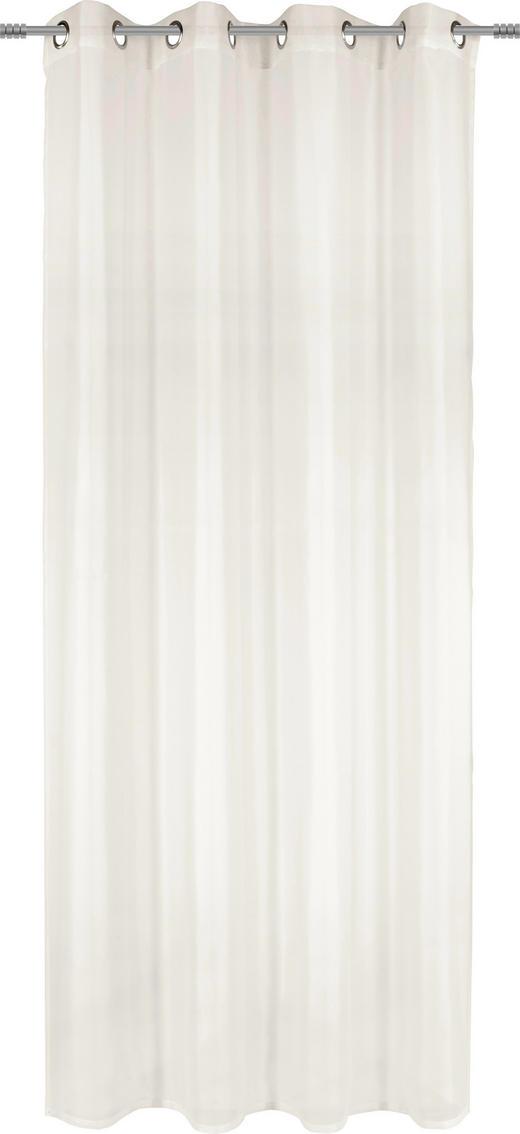 ÖSENSCHAL  transparent  140/245 cm - Naturfarben, Basics, Textil (140/245cm) - Boxxx