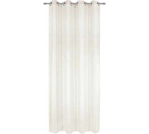 ÖSENVORHANG transparent  - Naturfarben, Basics, Textil (140/245cm) - Boxxx