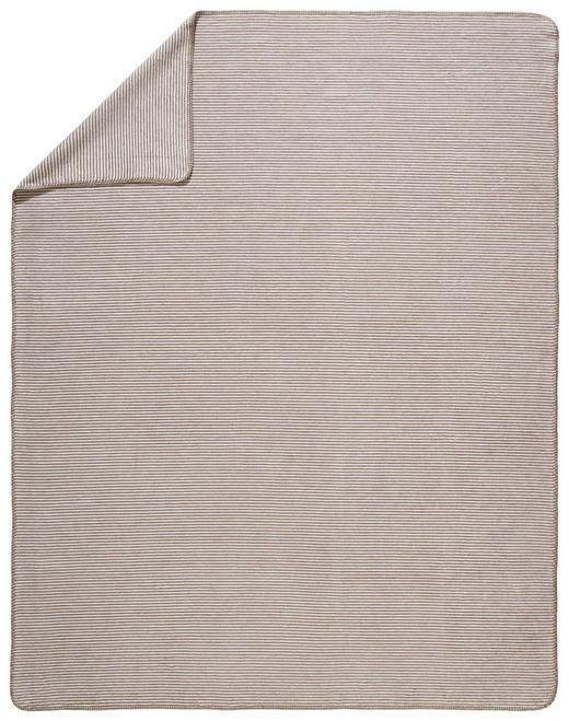 WOHNDECKE 150/200 cm Naturfarben, Taupe - Taupe/Naturfarben, Basics, Textil (150/200cm) - Novel