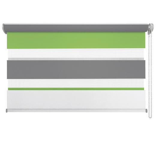 DUOROLLO  halbtransparent   80/210 cm   - Weiß/Hellgrün, Basics, Kunststoff (80/210cm)