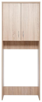 MEHRZWECKSCHRANK foliert Eichefarben - Eichefarben/Alufarben, KONVENTIONELL, Holzwerkstoff/Kunststoff (68/188/35cm) - CARRYHOME