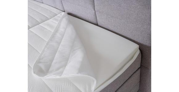 Boxspringbett mit Topper 180x200cm Hampton H2/H3 - Wengefarben/Grau, KONVENTIONELL, Textil (180/200cm) - Luca Bessoni