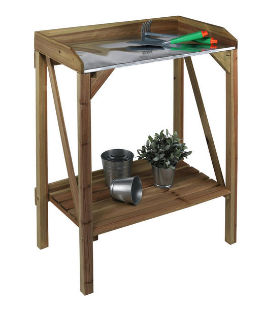 PFLANZTISCH - Naturfarben, Basics, Holz/Metall (70/87,5/41cm)