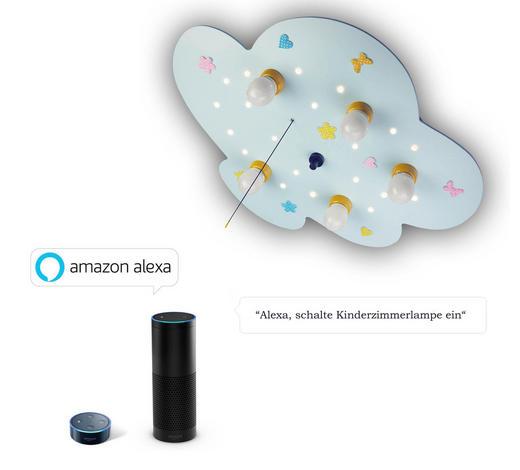 KINDERDECKENLEUCHTE  Amazon Alexa  - Multicolor, Basics, Holzwerkstoff/Kunststoff (60/45/7cm)