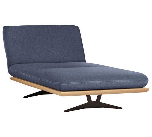 OTTOMANE Blau  - Blau/Beige, Design, Holz/Textil (114/92/165-218cm) - Livetastic