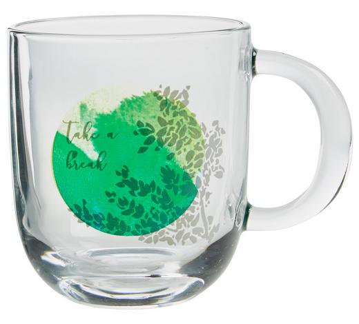 TASSE 300 ml - Transparent/Weiß, Trend, Glas (0,3l) - Leonardo