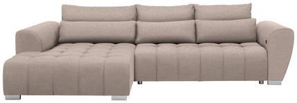 WOHNLANDSCHAFT in Textil Beige  - Beige/Silberfarben, MODERN, Kunststoff/Textil (218/304cm) - Carryhome