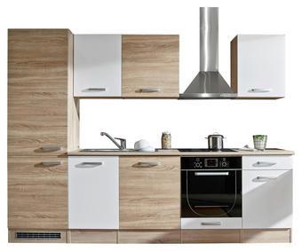 KÜCHENBLOCK - Eichefarben/Weiß, Design, Holzwerkstoff (280/212/60cm) - Xora