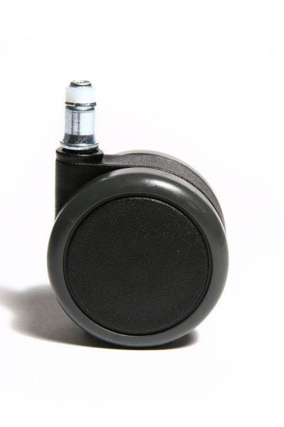 DREHSTUHLROLLE - Schwarz, Basics, Kunststoff (6,5cm)