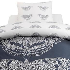 PÅSLAKANSET - vit/blå, Klassisk, textil (150/210cm) - Novel