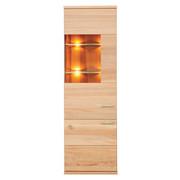 VITRINE in massiv Buche Buchefarben - Buchefarben/Alufarben, Design, Glas/Holz (61/197/41cm) - Venda