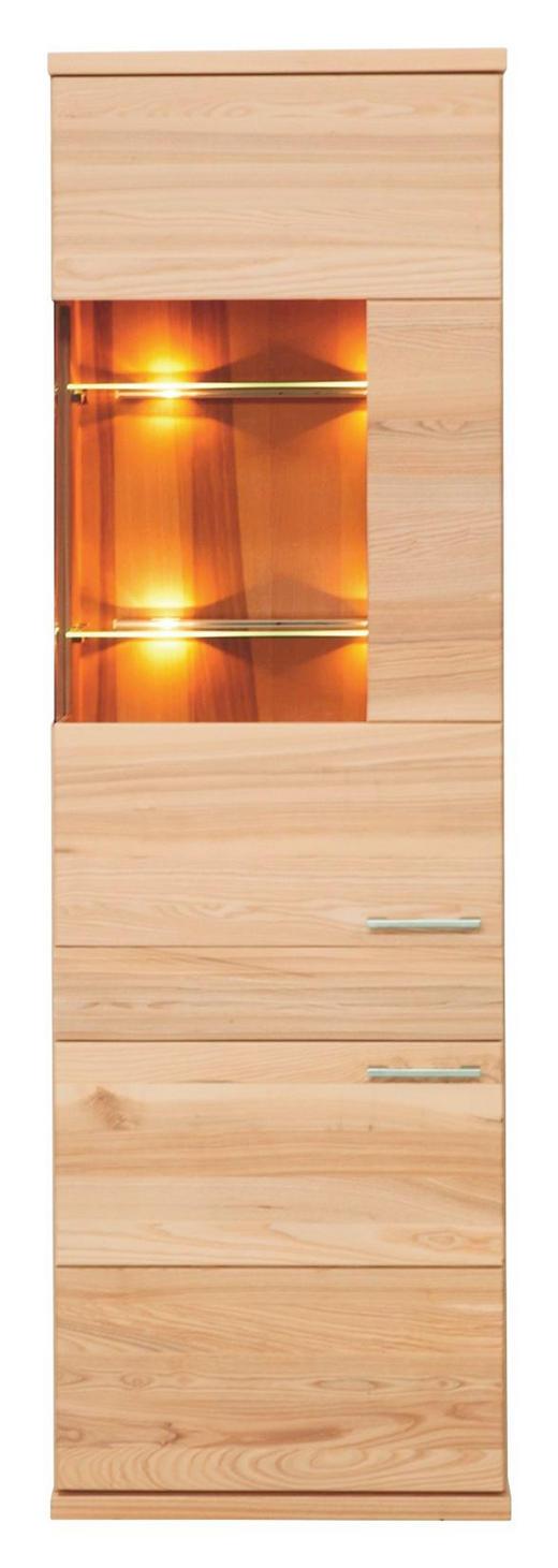 VITRINE Buche massiv Buchefarben - Buchefarben/Alufarben, MODERN, Glas/Holz (61/197/41cm) - VENDA