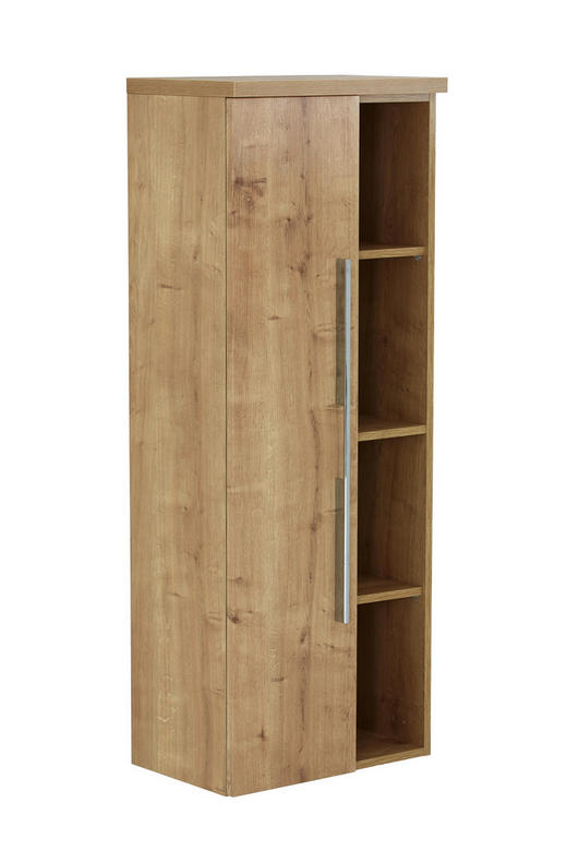 MIDISCHRANK Eichefarben - Eichefarben/Silberfarben, Design, Metall (50/130,8/33cm) - Dieter Knoll