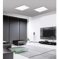 STROPNA LED-SVETILKA - bela, Design, kovina/umetna masa (62/62/5,6cm)