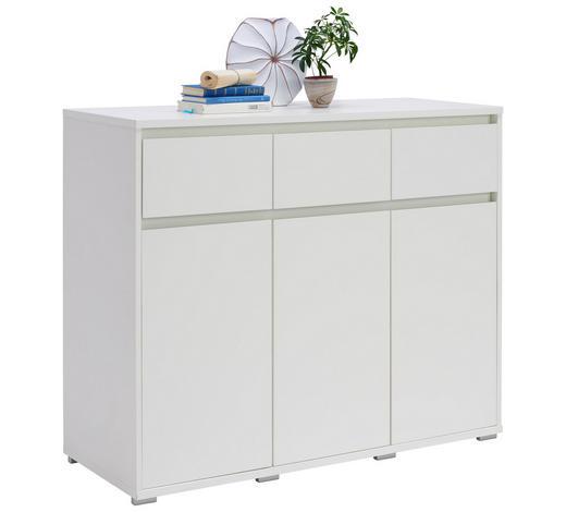 KOMMODE 120/103/48 cm - Alufarben/Weiß, Design, Holzwerkstoff/Kunststoff (120/103/48cm) - Carryhome