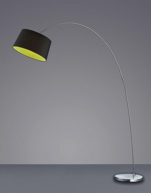 BOGENLEUCHTE - Chromfarben/Schwarz, LIFESTYLE, Textil/Metall (200/41/175cm)
