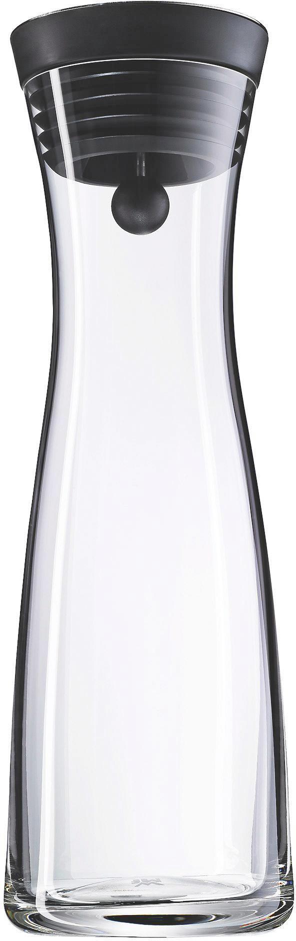 WASSERKARAFFE 1 L - Klar/Edelstahlfarben, Basics, Glas/Kunststoff (1l) - WMF