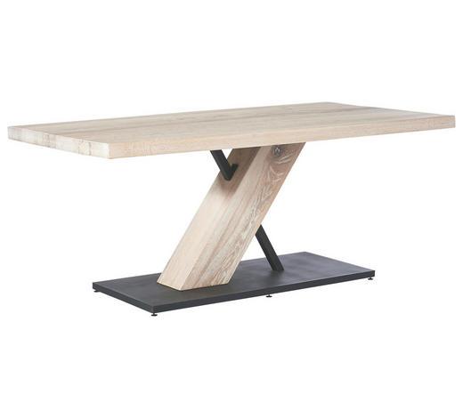 ESSTISCH Asteiche massiv rechteckig Weiß, Eichefarben - Eichefarben/Weiß, LIFESTYLE, Holz/Metall (180/100/77cm) - Musterring