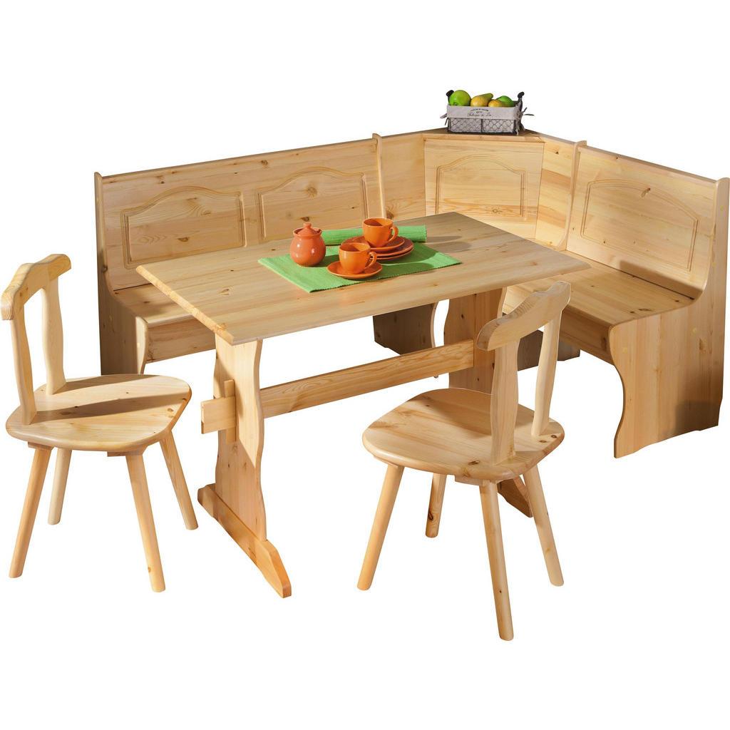 Carryhome ECKBANKGRUPPE Kiefer massiv Braun | Küche und Esszimmer > Essgruppen > Eckbankgruppen | Braun | Holz | Carryhome