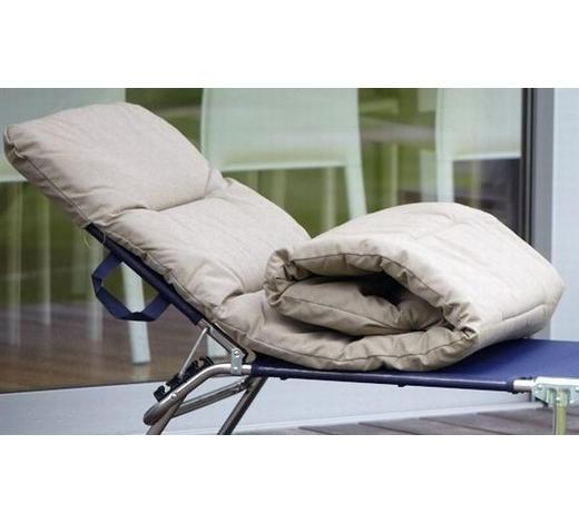 LIEGENAUFLAGE - Taupe, Basics, Textil (60/6/190cm) - Jan Kurtz