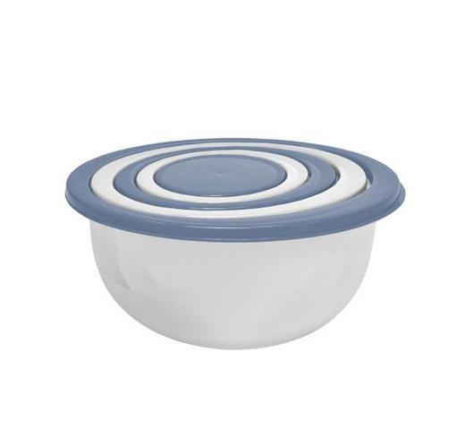Aufbewahrungsdosenset 5-teilig  5 + 3 + 1,8 + 1 + 0,5 l  - Blau/Violett, Basics, Kunststoff - Homeware