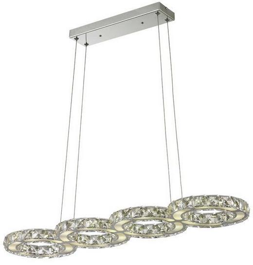 LED-HÄNGELEUCHTE - Chromfarben, Design, Glas/Kunststoff (79/120/20cm)