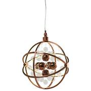 HÄNGELEUCHTE  - Kupferfarben, LIFESTYLE, Glas/Metall (48/150/48cm) - Kare-Design