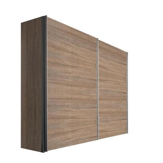 SCHWEBETÜRENSCHRANK 2-türig Sonoma Eiche - Alufarben/Sonoma Eiche, KONVENTIONELL, Holzwerkstoff/Metall (200/216/68cm) - Hom`in