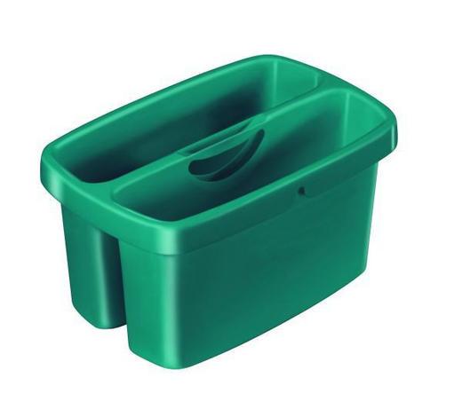 EIMER  - Grün, Basics, Kunststoff (36,5/23,6/18,4cm) - Leifheit