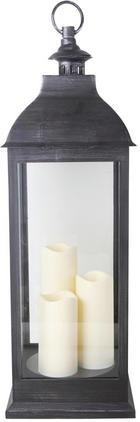 LYKTA - svart, Basics, glas/plast (24/71/24cm) - AMBIA HOME