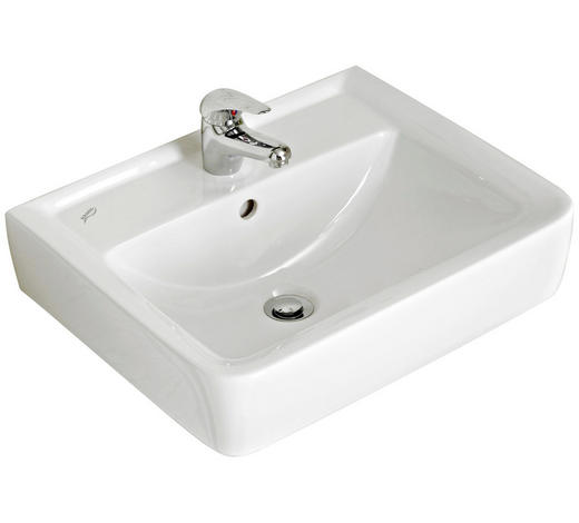 WASCHBECKEN - Weiß, KONVENTIONELL, Keramik (55/12/44cm) - Xora