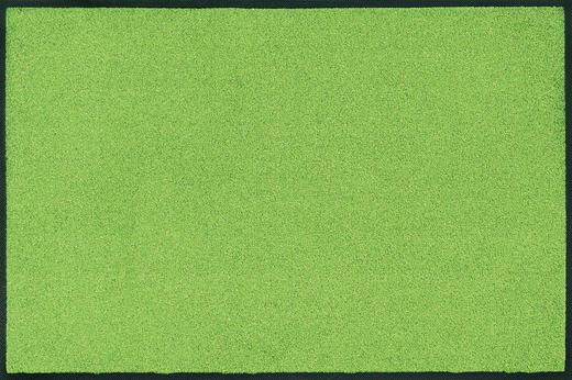 FUßMATTE 50/75 cm Uni Grün - Grün, Basics, Kunststoff/Textil (50/75cm) - Esposa