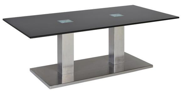 COUCHTISCH in Glas, Metall 120/70/45 cm - Edelstahlfarben/Schwarz, Design, Glas/Metall (120/70/45cm) - Dieter Knoll