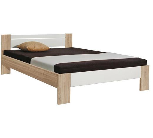 FUTONBETT 140/200 cm  - Eichefarben/Weiß, Design (140/200cm) - Carryhome
