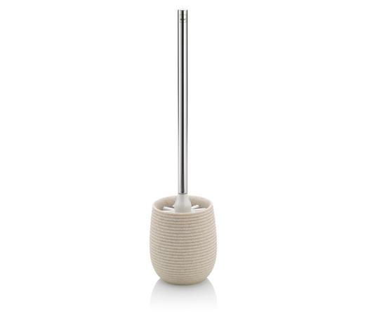 WC-BÜRSTENGARNITUR - Beige, Kunststoff/Metall (10,5/44cm) - Kela