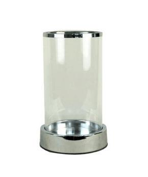 LJUSLYKTA - klar/silver, Design, metall/glas (14,5/24,5cm) - Ambia Home