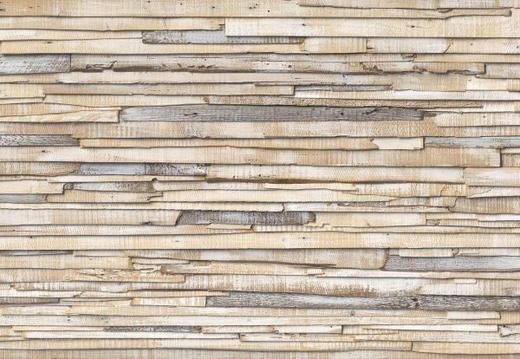 TAPETA WHITEWASHED WOOD, 8-920 - siva/rjava, Basics, papir (368/254cm)