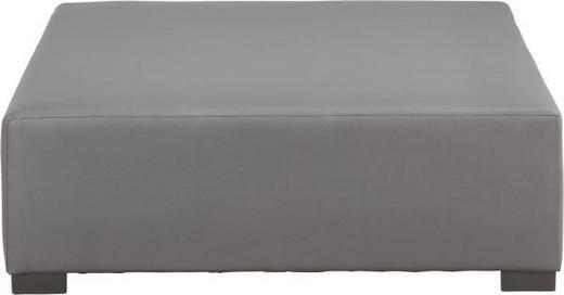 LOUNGEHOCKER - Edelstahlfarben/Anthrazit, Design, Textil/Metall (110/37/110cm)