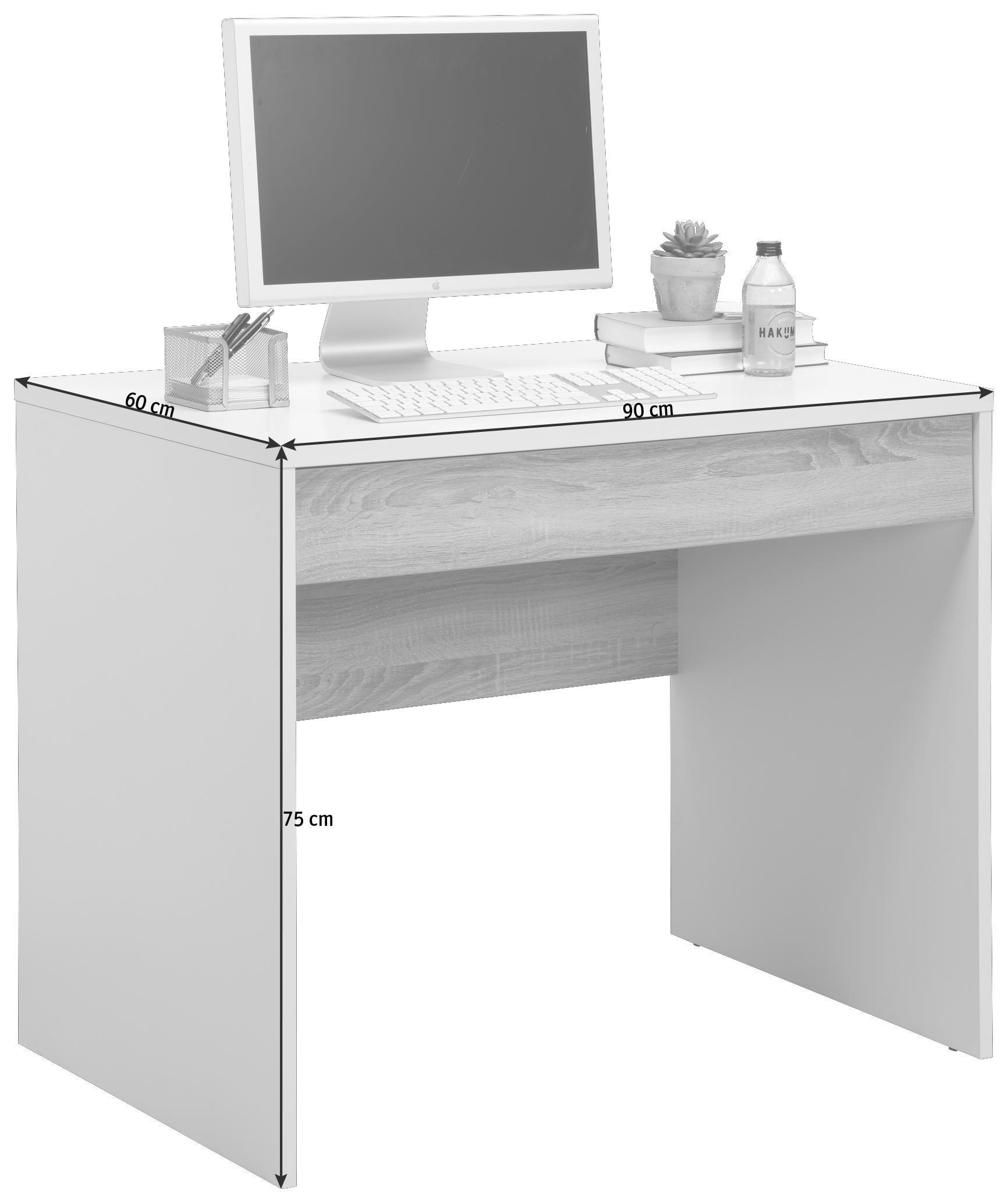 Computertisch Buche-dekor Harmonische Farben Sekretär SchöN Schreibtisch