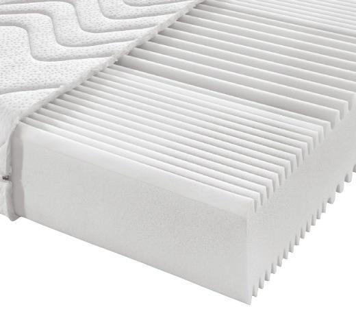 MATRACE Z KOMFORTNÍ PĚNY, 90/190 cm,  - bílá, Basics, textil (90/190cm) - Sleeptex