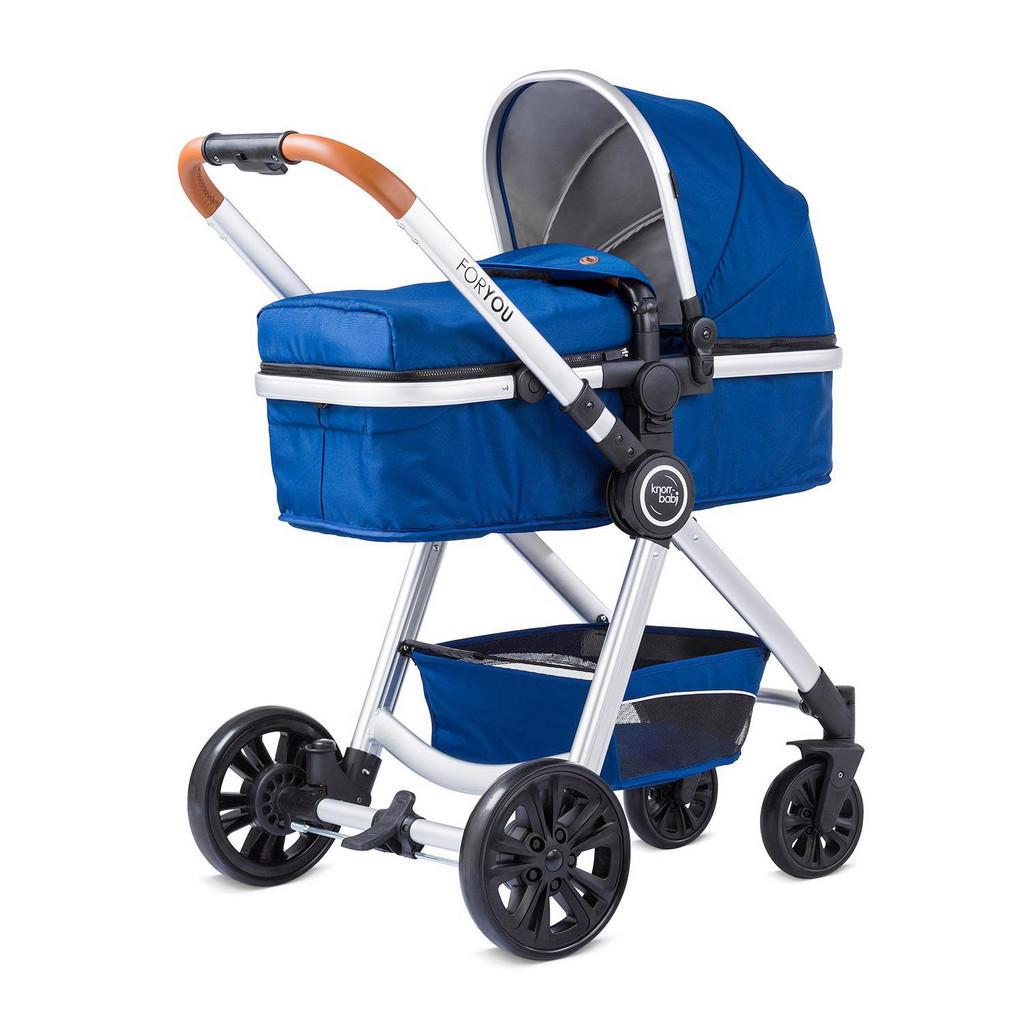 Blauer Kinderwagen 'For You' von Knorr-Baby