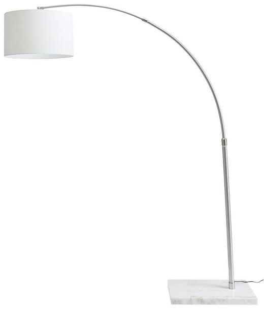 ZAHNUTÁ LAMPA - bílá/šedá, Design, kov/textil (190/45/218cm) - NOVEL