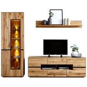 OBÝVACÍ STĚNA, antracitová, barvy dubu - barvy dubu/antracitová, Konvenční, kov/dřevo (270/203/47cm) - Linea Natura