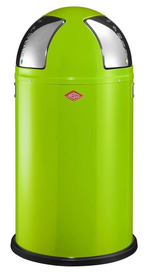 ABFALLSAMMLER PUSH TWO 2X25 L - Edelstahlfarben/Limette, Kunststoff/Metall (40/75,5cm) - Wesco