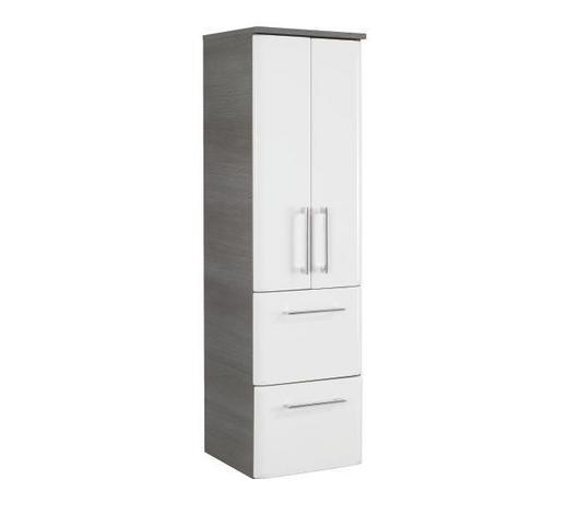 BOČNÍ SKŘÍŇ, bílá,  - bílá/barvy chromu, Konvenční, kompozitní dřevo (35/123/33cm) - Xora