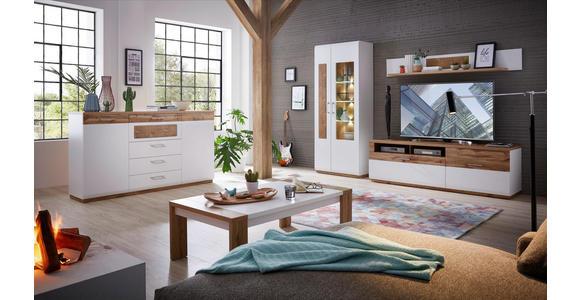 SIDEBOARD 175/99/43 cm  - Chromfarben/Eichefarben, KONVENTIONELL, Holzwerkstoff/Metall (175/99/43cm) - Xora