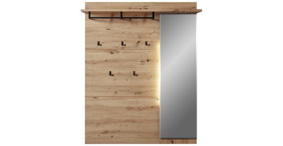 GARDEROBENPANEEL 120/153/30 cm - Eichefarben, Design, Glas/Holzwerkstoff (120/153/30cm) - Voleo